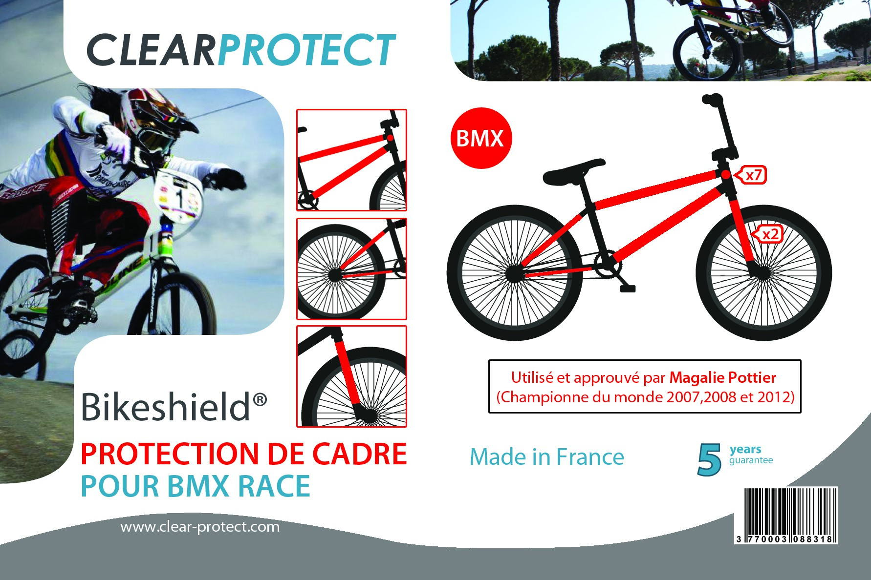 clearprotect kit protections invisibles cadre bmx. Black Bedroom Furniture Sets. Home Design Ideas