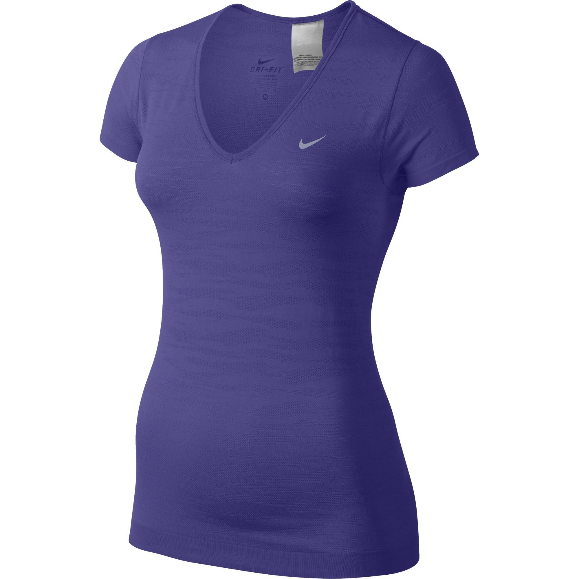 nouveau concept a385f 7dcf0 NIKE T-Shirt DRI-FIT KNIT Femme