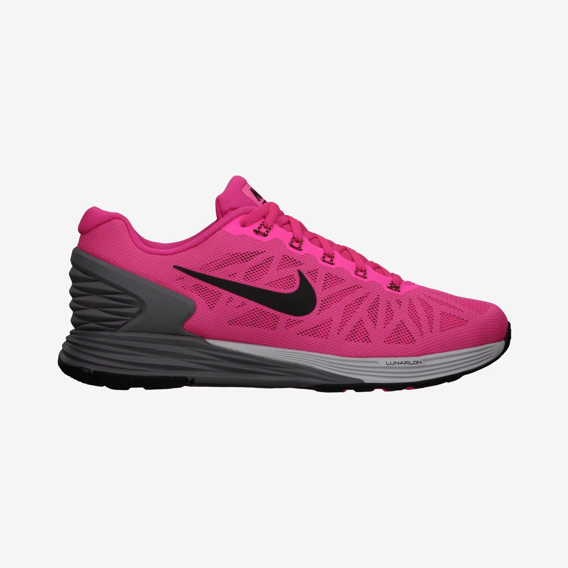 new styles 75edc dacb2 Chaussures de Running Femme Nike LUNARGLIDE 6 Rose   Noir