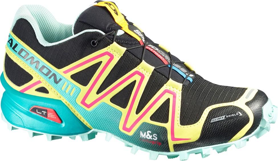 Femme Chaussures Cs Noir Salomon Speedcross 3 Jaune 76gYbyf