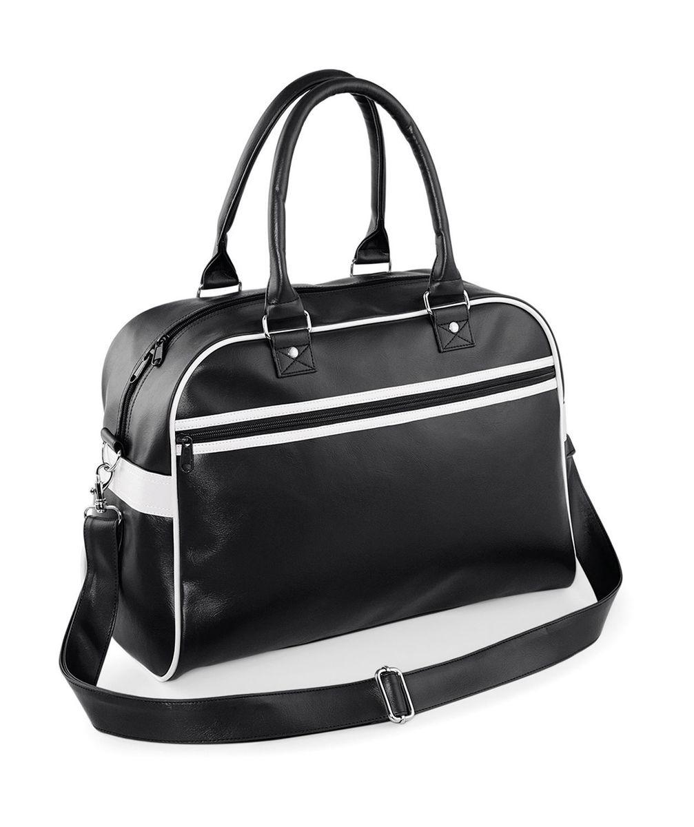 c2cb587840 Bag-base Sac sport Retro Bowling Bag BG95 - noir - blanc   Alltricks.fr