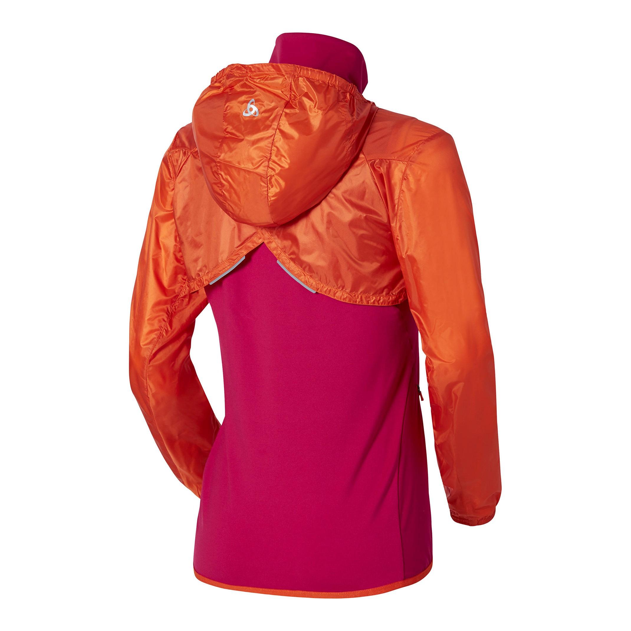 ODLO Veste coupe-vent Femme 3en 1 ZEROWEIGHT Rose Orange | Alltricks.fr