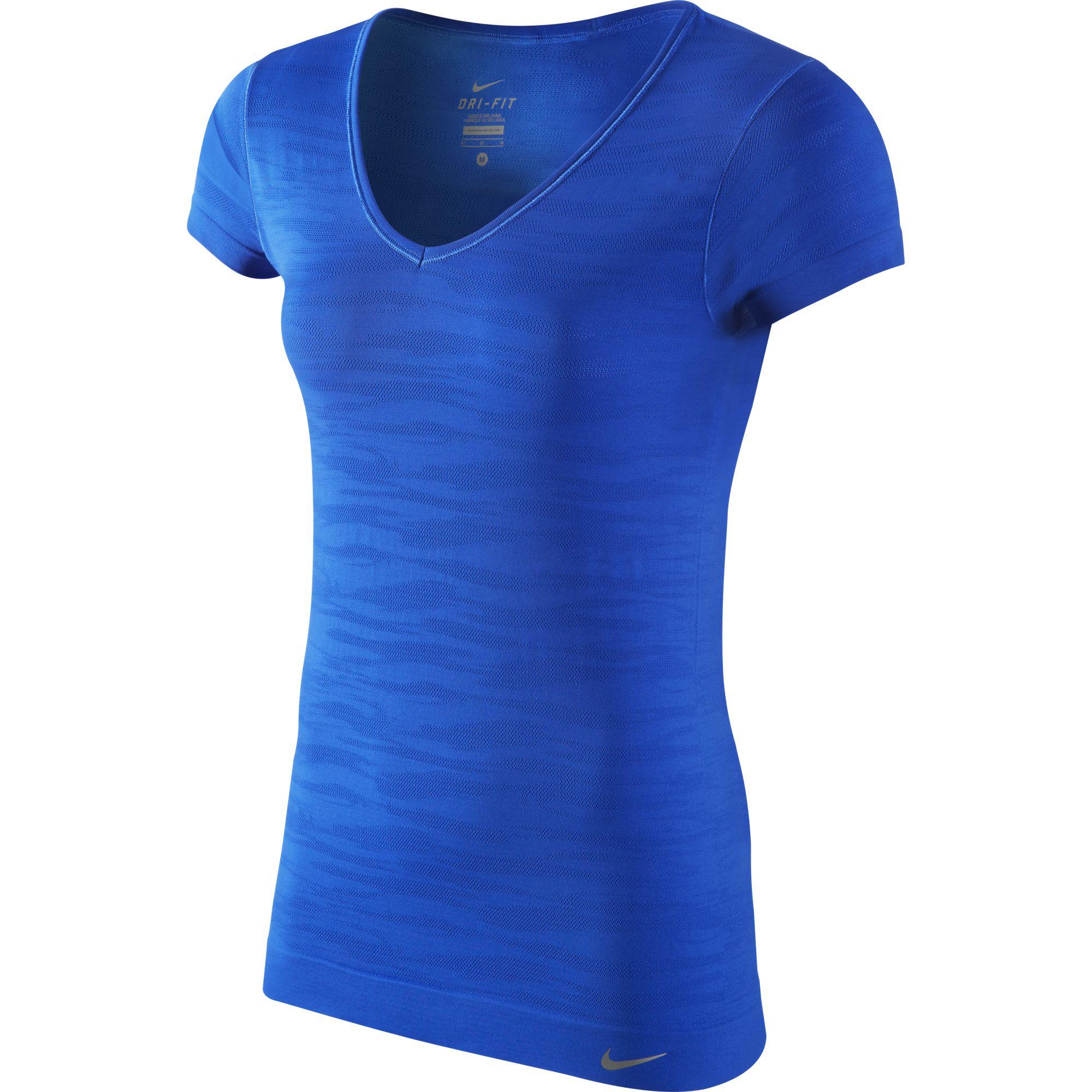 Alltricks Camiseta Dri es Mujer Azul Nike Fit qzwPXOzr