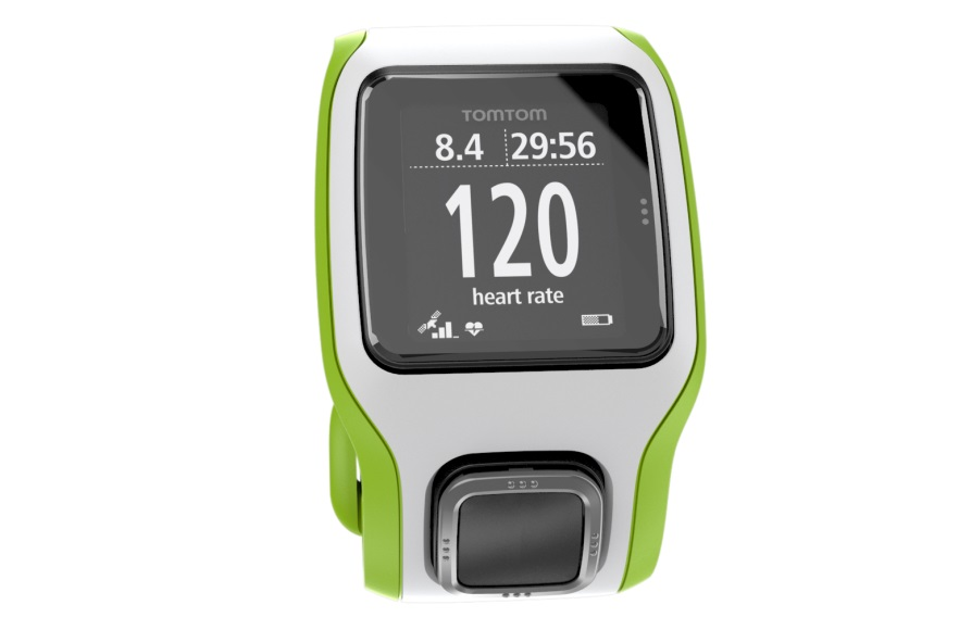 tomtom montre multi sport cardio gps blanc vert. Black Bedroom Furniture Sets. Home Design Ideas