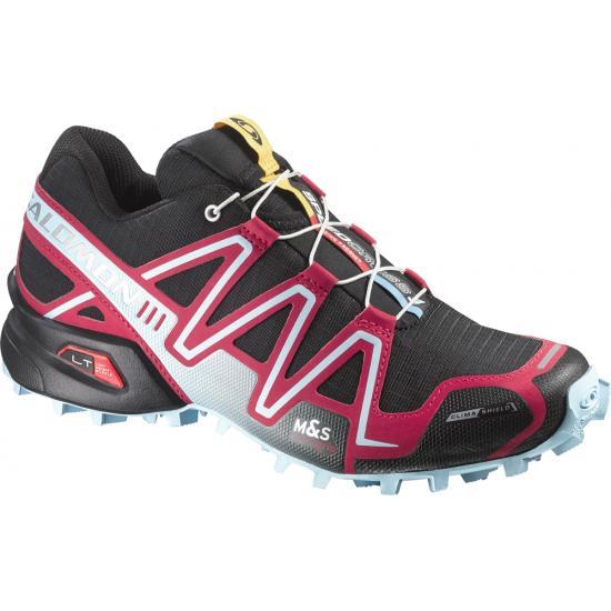 6466d87f856 SALOMON Chaussures SPEEDCROSS 3 CS W Femme Noir Rose