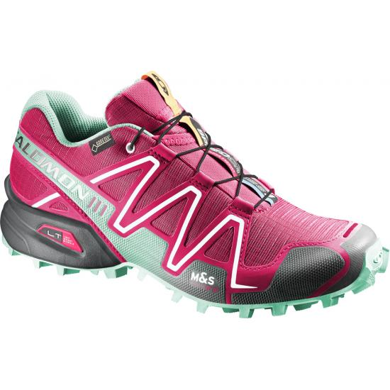 meilleures baskets af508 f8152 SALOMON Chaussures SPEEDCROSS 3 GTX Femme Turquoise Rose