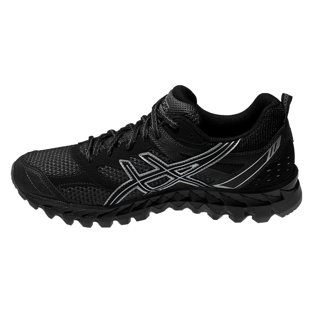 chaussures de trail asics gel trail lahar 6 g tx argent noir. Black Bedroom Furniture Sets. Home Design Ideas