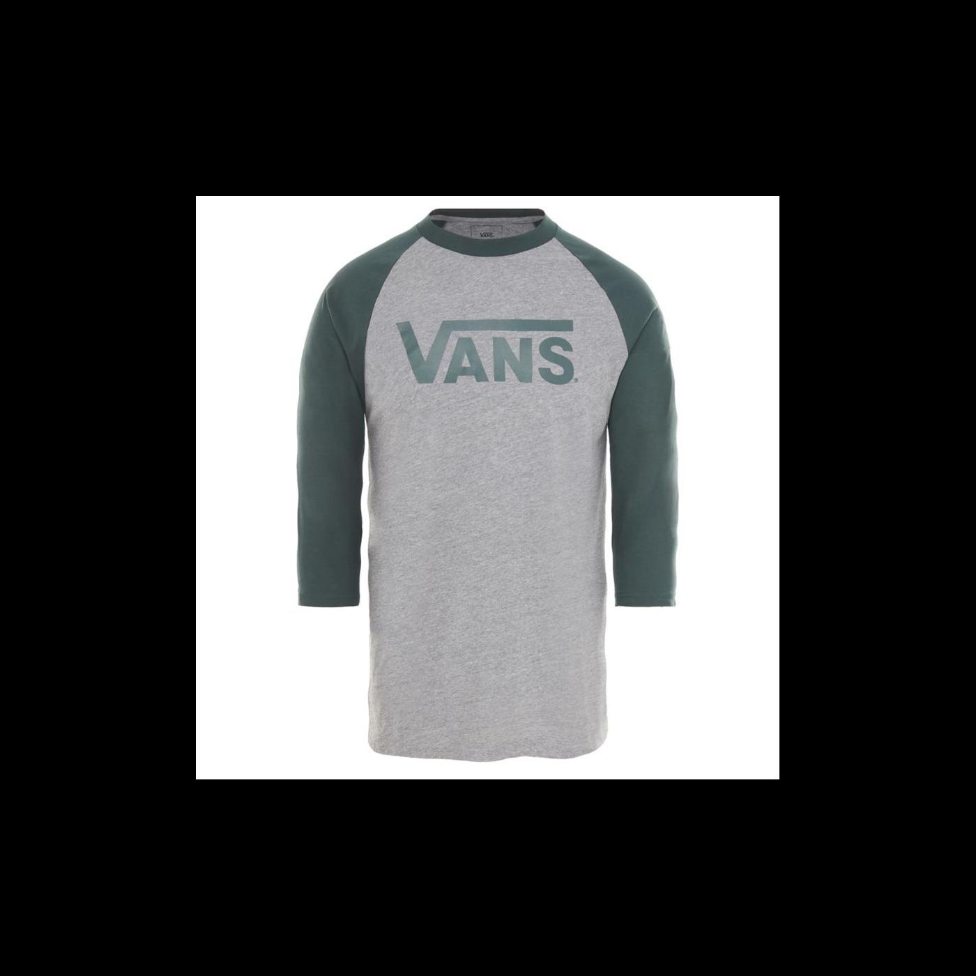 c6f3c0b98e6ec7 T-shirt Vans Classic Raglan Heather Grey Spruce