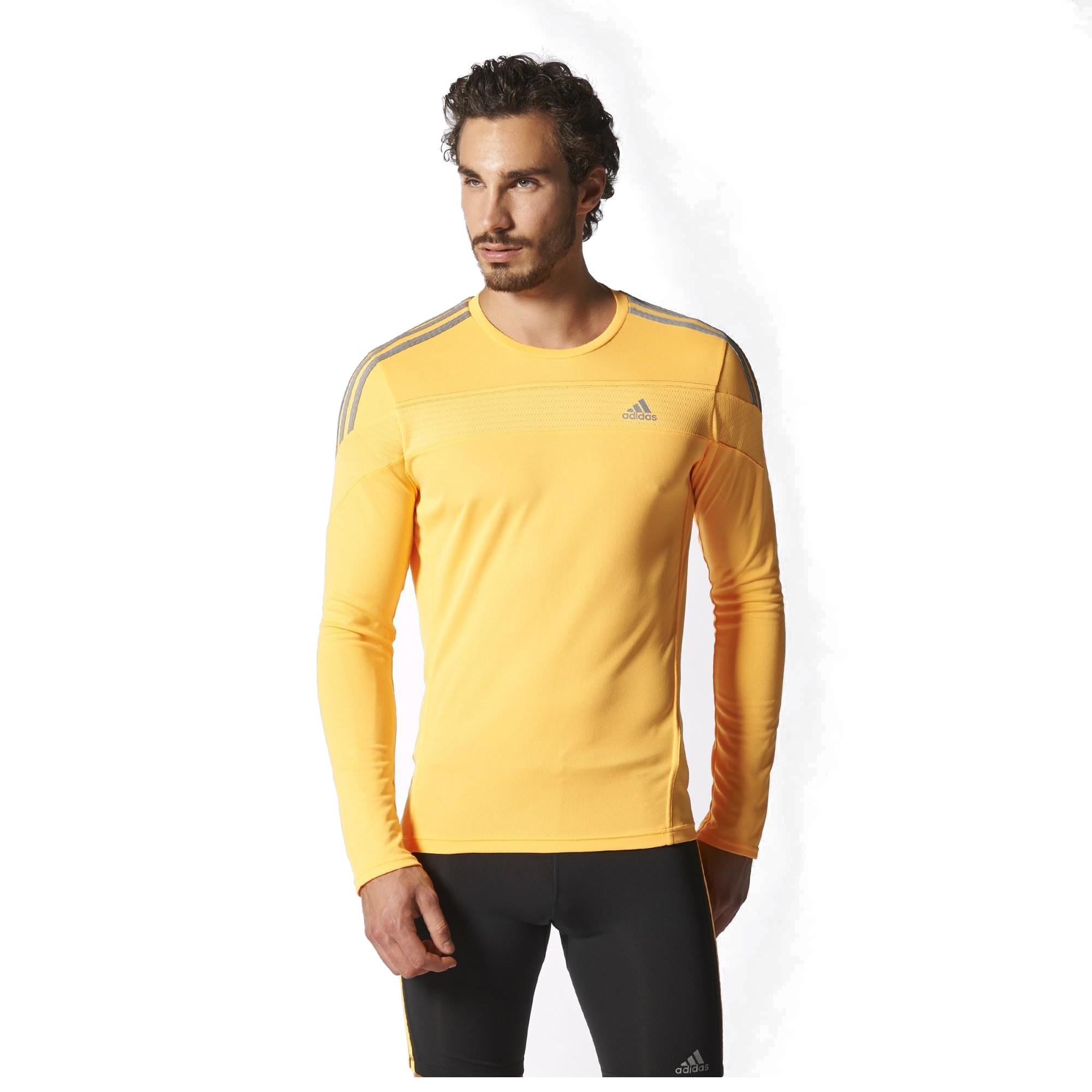 adidas t shirt long response homme jaune. Black Bedroom Furniture Sets. Home Design Ideas