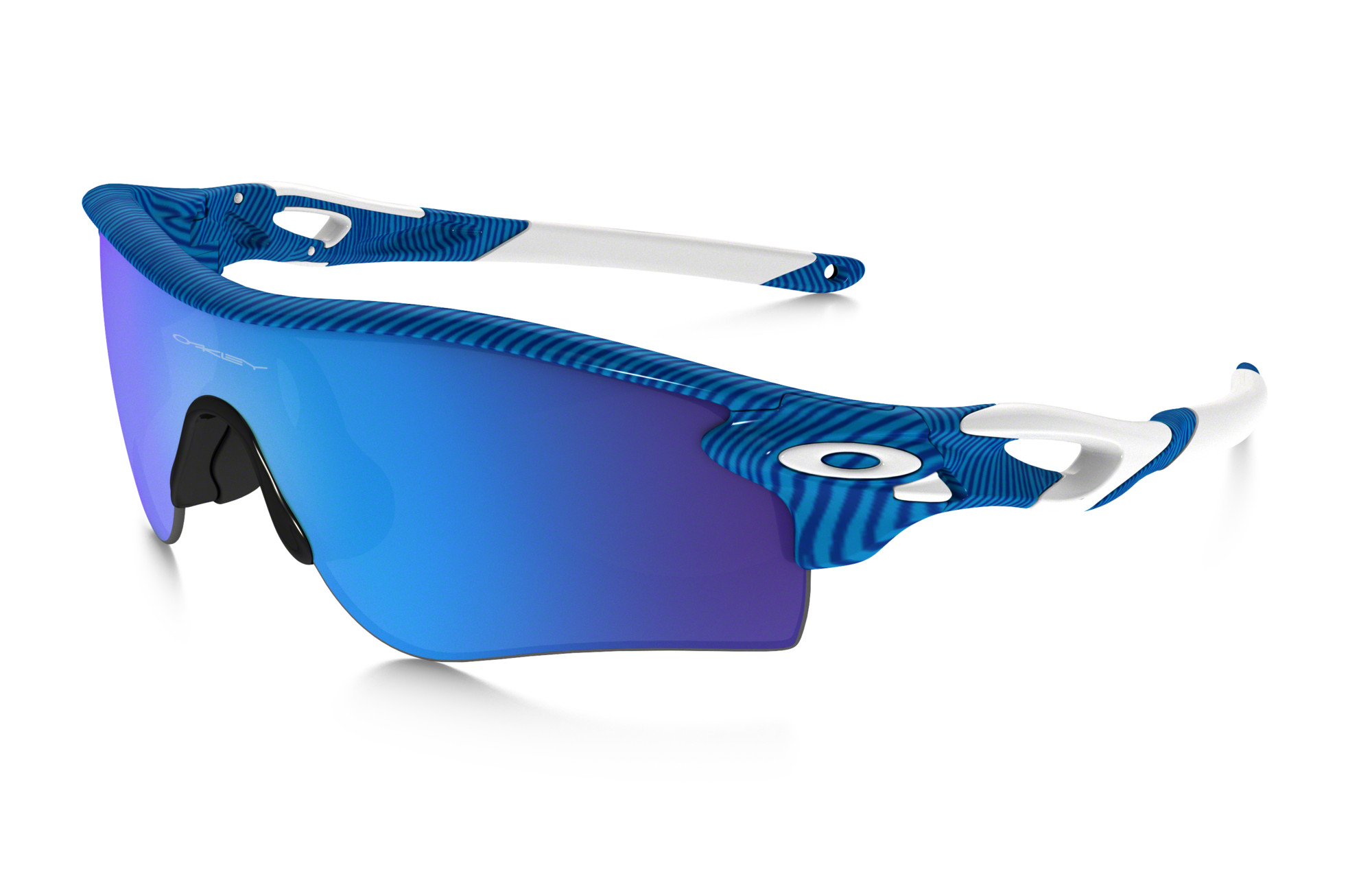 OAKLEY Paire de lunettes FINGERPRINT RADARLOCK PATH Bleu Sapphire Iridium  réf oo9181-46 d93e3ea2459c
