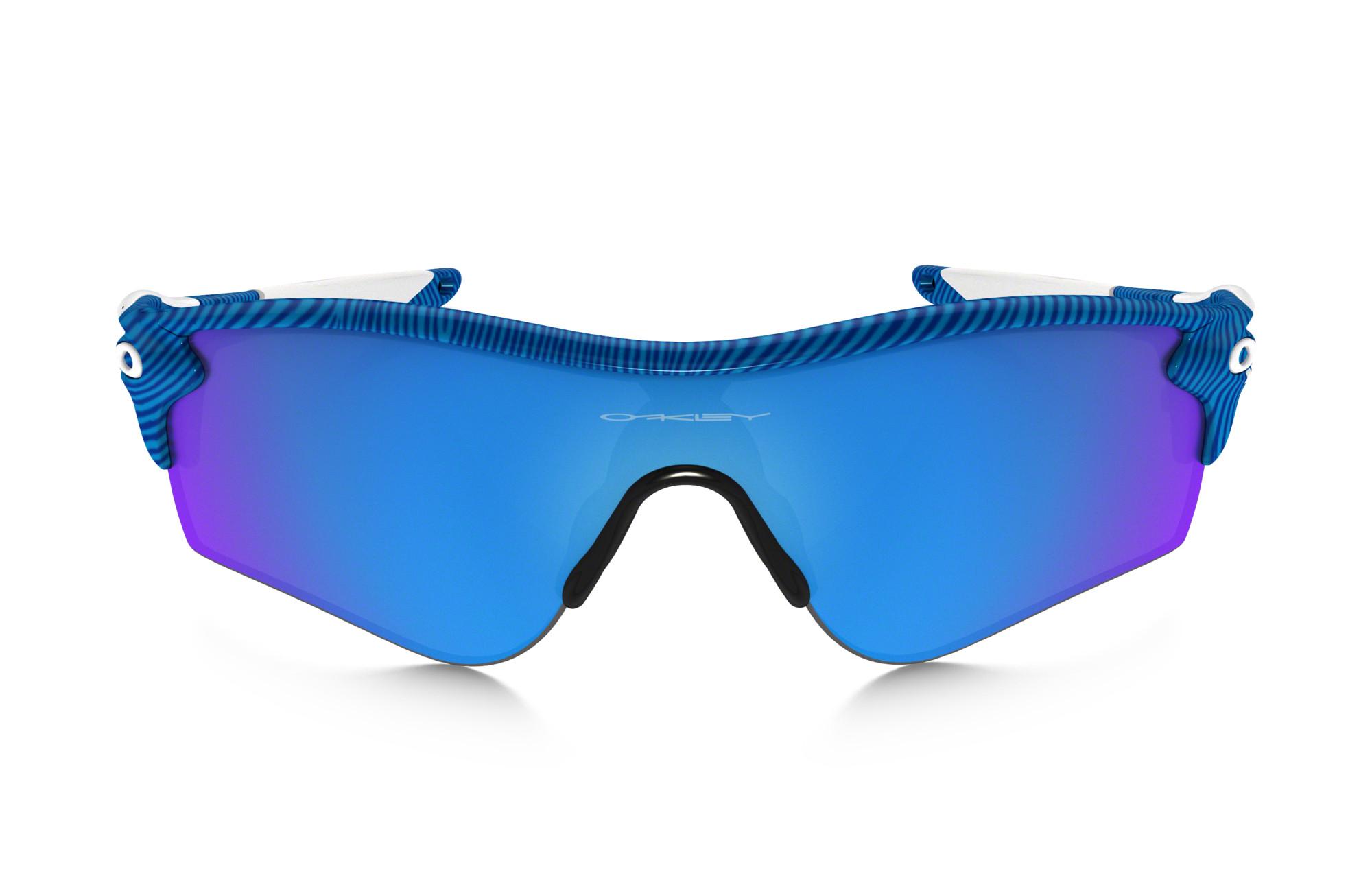02828d16f0a5e OAKLEY Paire de lunettes FINGERPRINT RADARLOCK PATH Bleu Sapphire Iridium  réf oo9181-46