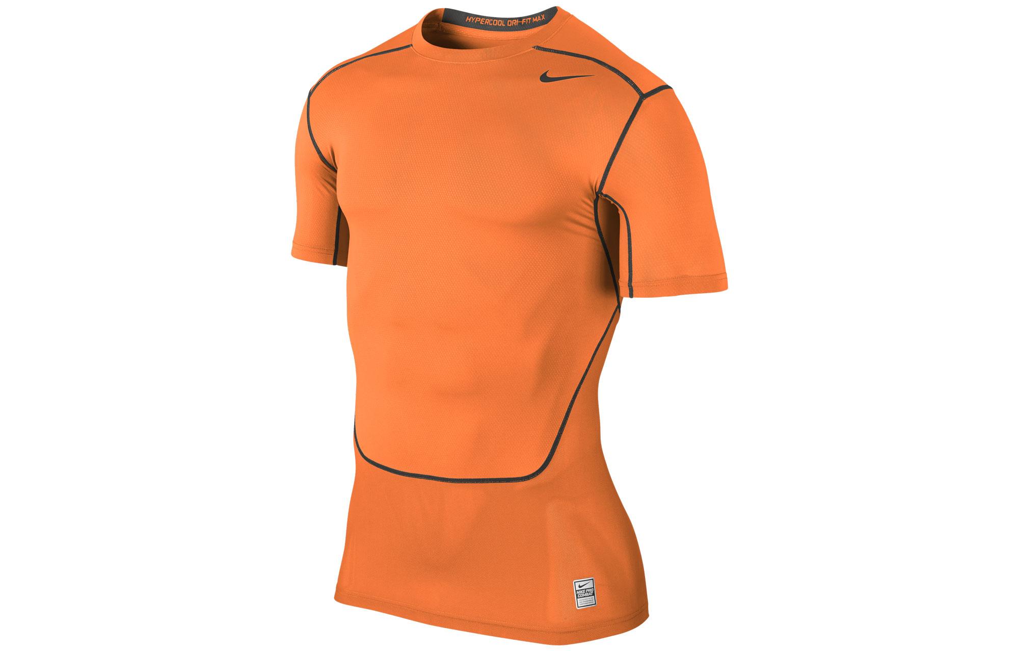 new style 151f1 fa8bd Maglia uomo NIKE PRO COMBAT HYPERCOOL COMPRESSION 3.0 Arancione ...