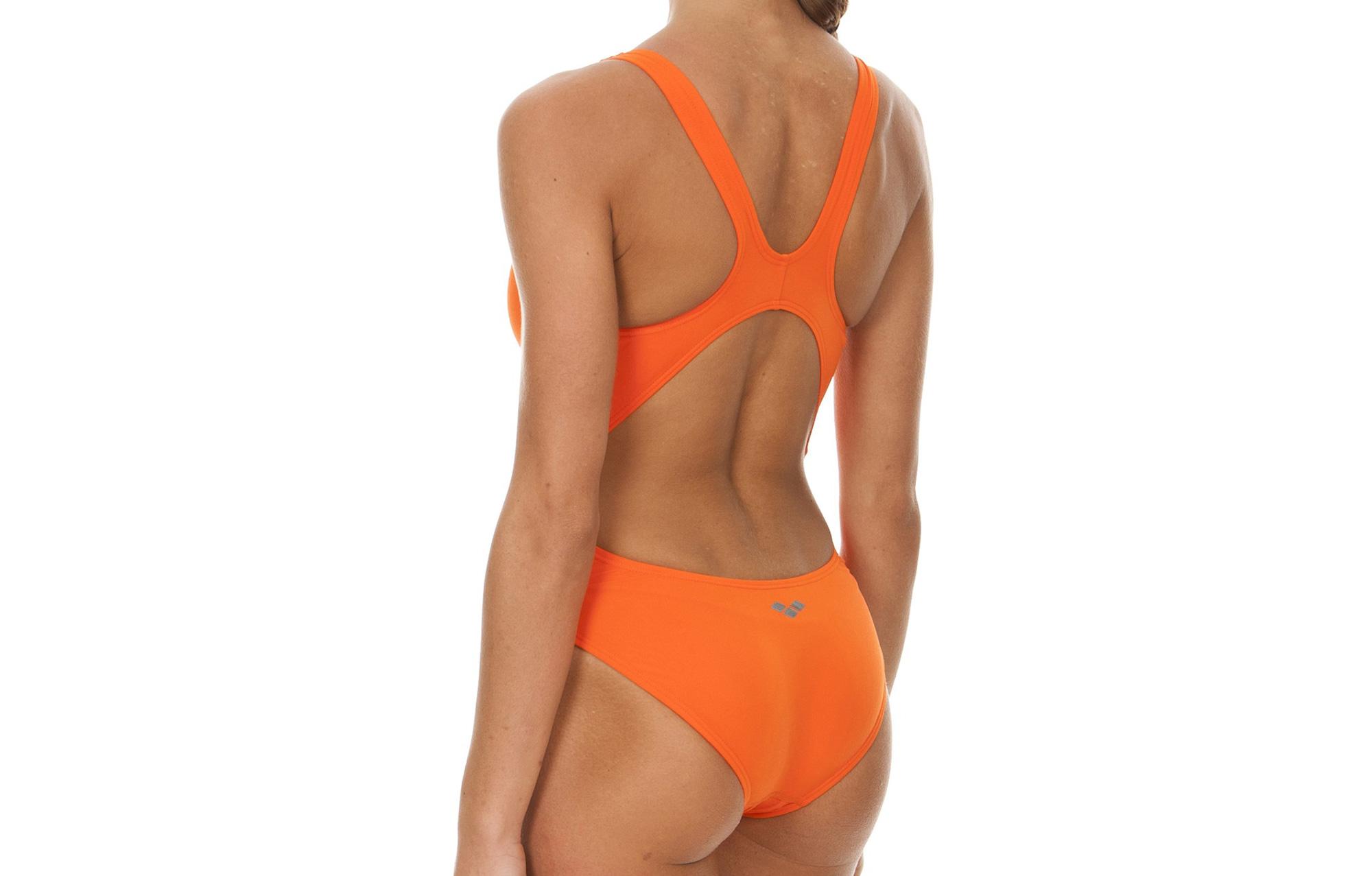 arena maillot de bain femme makinas high orange. Black Bedroom Furniture Sets. Home Design Ideas