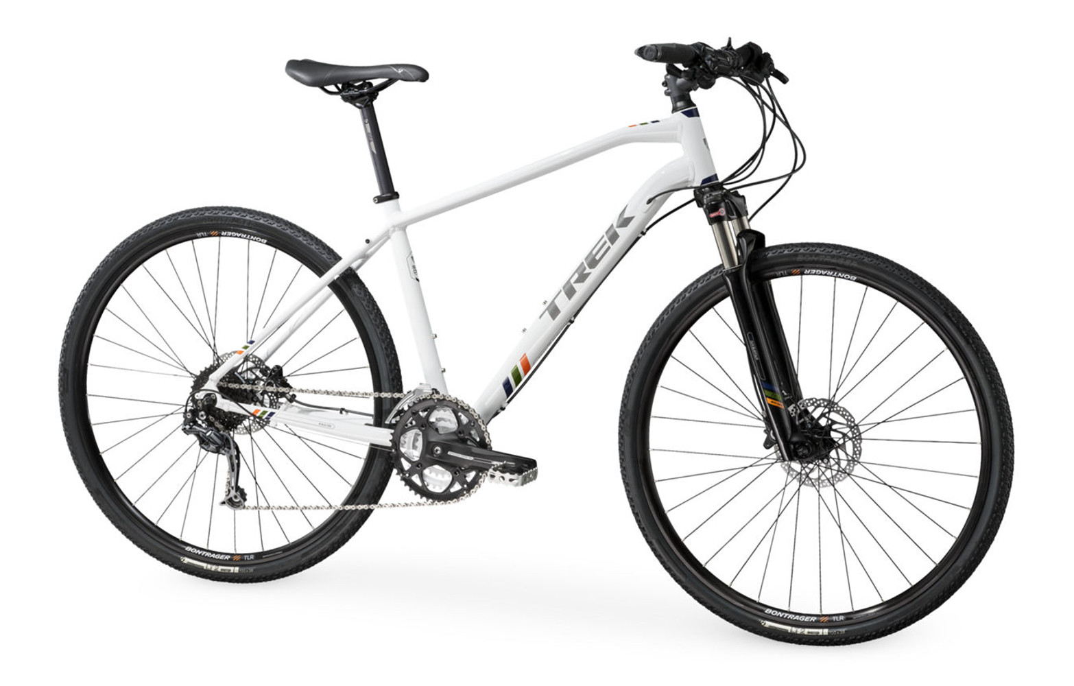 trek 8 5 ds hybrid bike white 2016. Black Bedroom Furniture Sets. Home Design Ideas