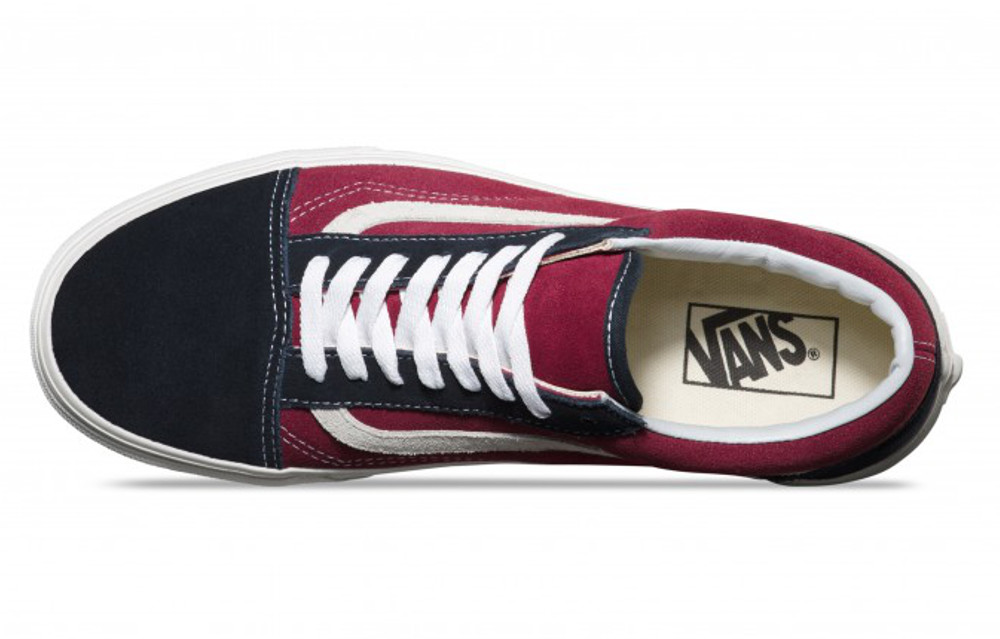 Chaussures Vans OLD SKOOL Bleu Foncé Bordeau