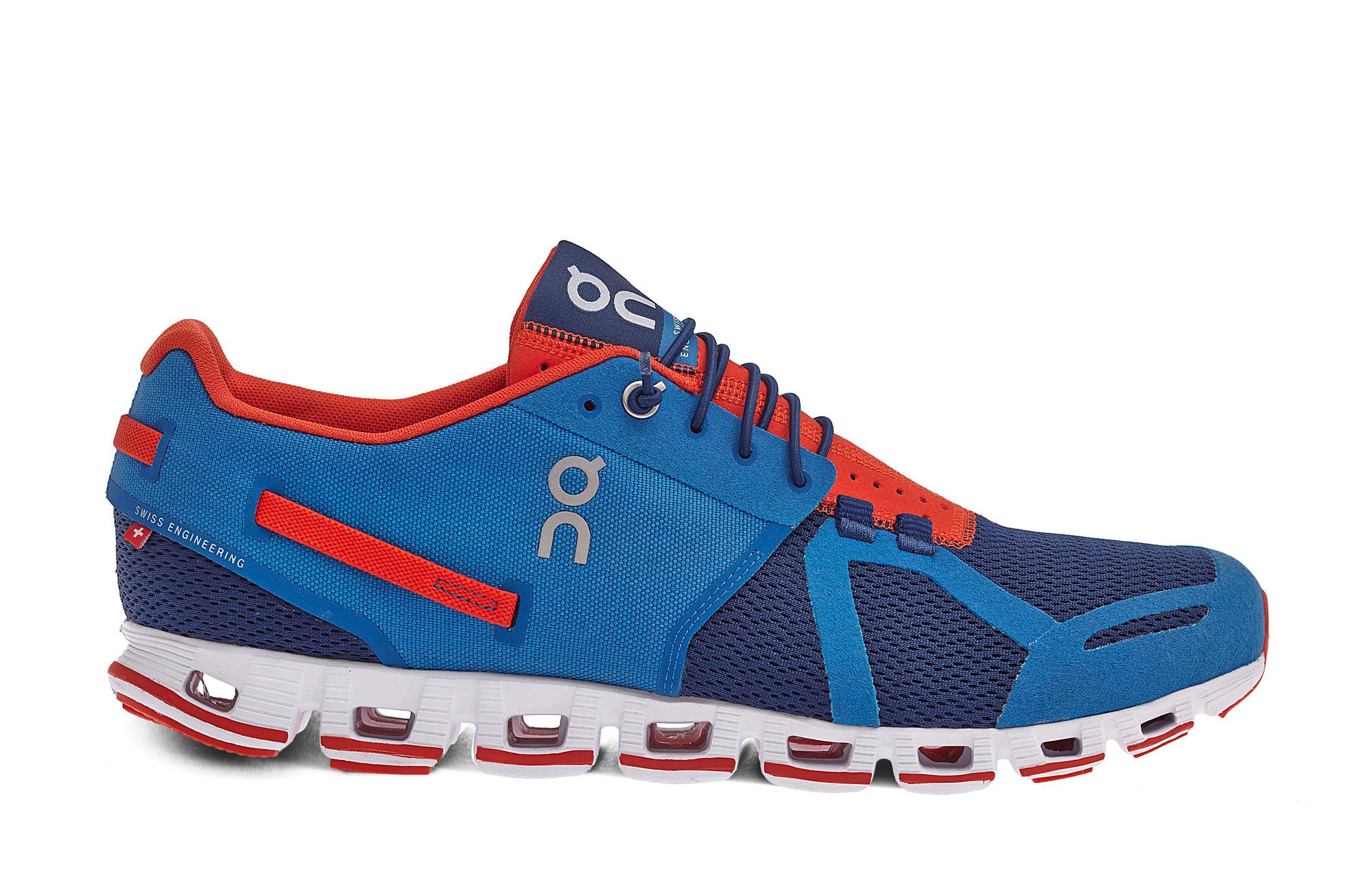 On Cloud - Blue/Orange Running Shoes