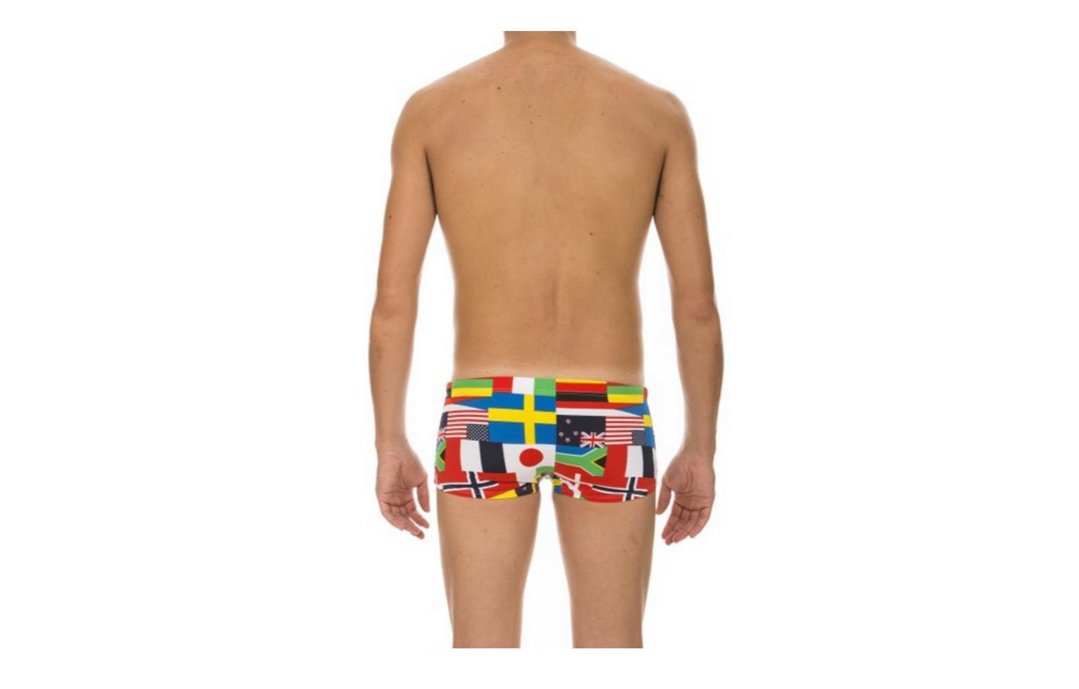 arena maillot de bain homme flags low waist short black. Black Bedroom Furniture Sets. Home Design Ideas