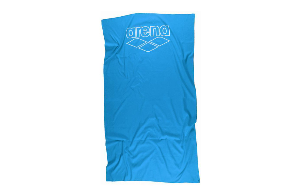 Arena serviette halys eolian blue white for Serviette piscine arena