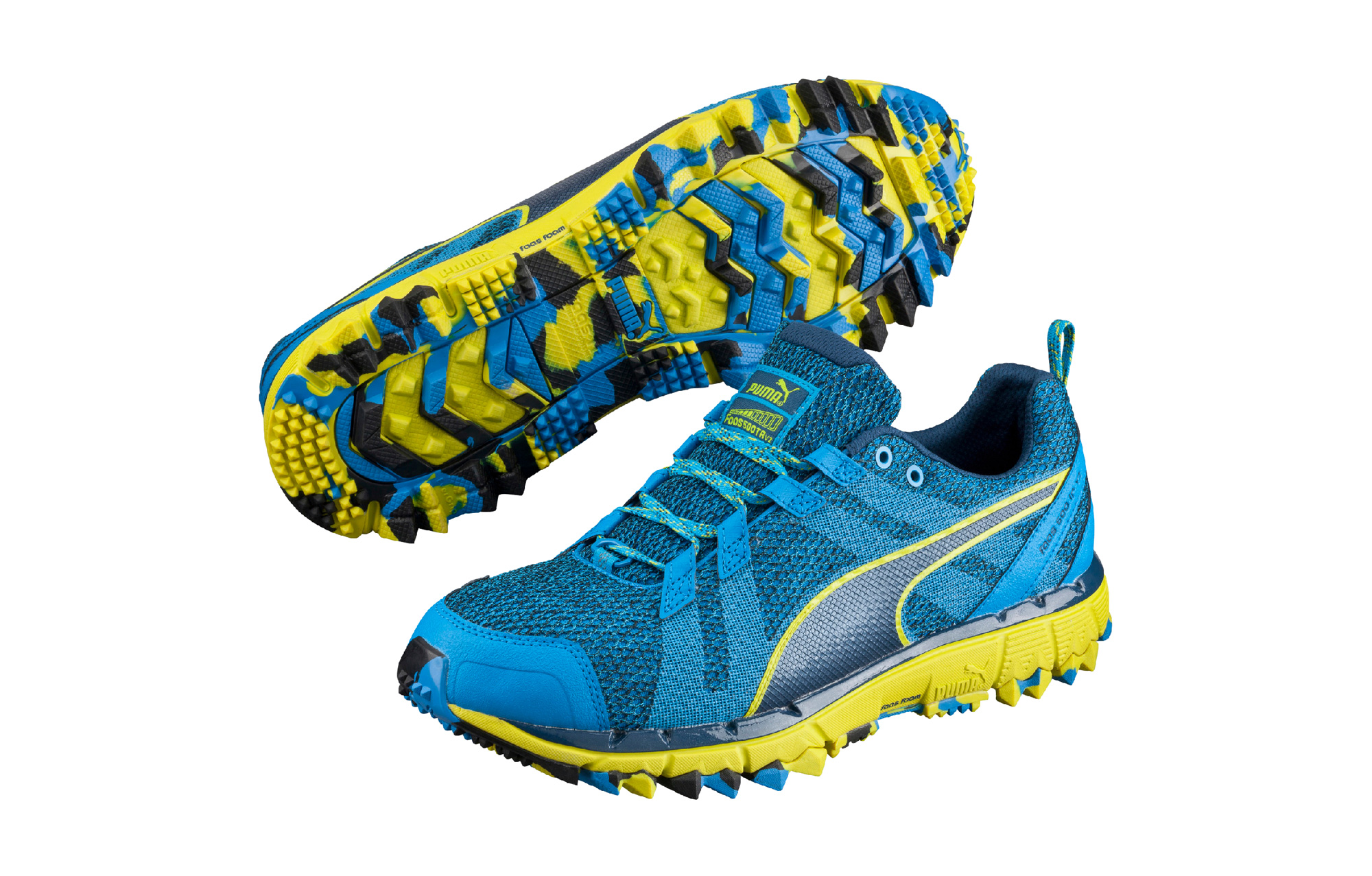 PUMA Trail Shoes Faas 500 TR V2 Blue Yellow