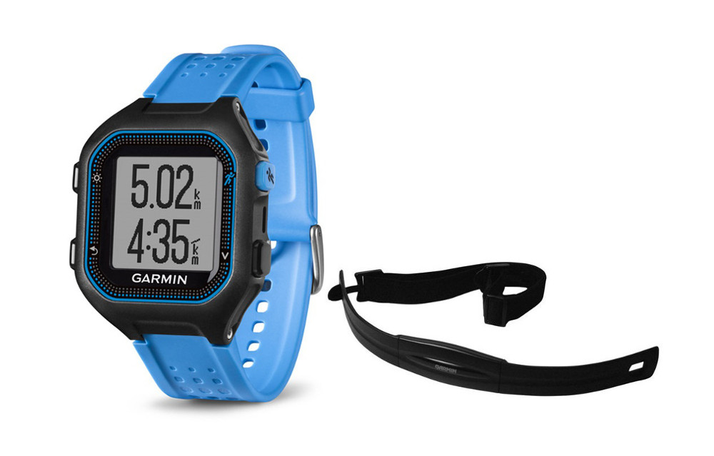 garmin montre gps forerunner 25 pack hrm noir bleu. Black Bedroom Furniture Sets. Home Design Ideas