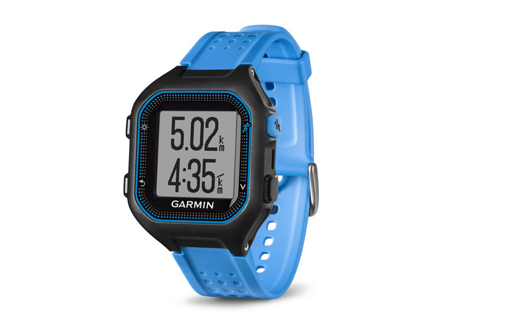 garmin montre gps forerunner 25 noir bleu. Black Bedroom Furniture Sets. Home Design Ideas