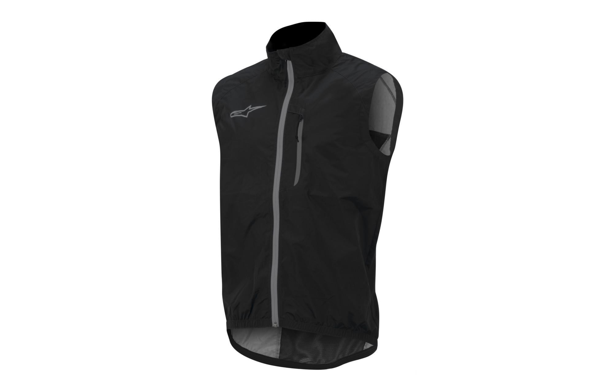 alpinestars veste coupe vent sans manches descender noir. Black Bedroom Furniture Sets. Home Design Ideas
