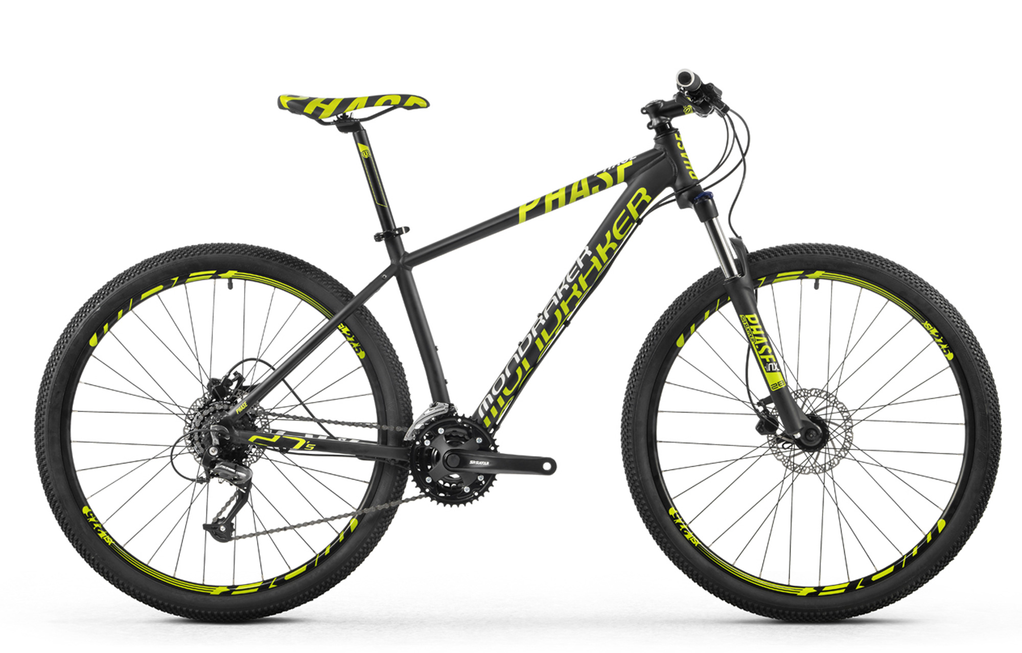 Bicicleta MONDRAKER PHASE 27,5\'\' 2016 Negro Verde | Alltricks.es