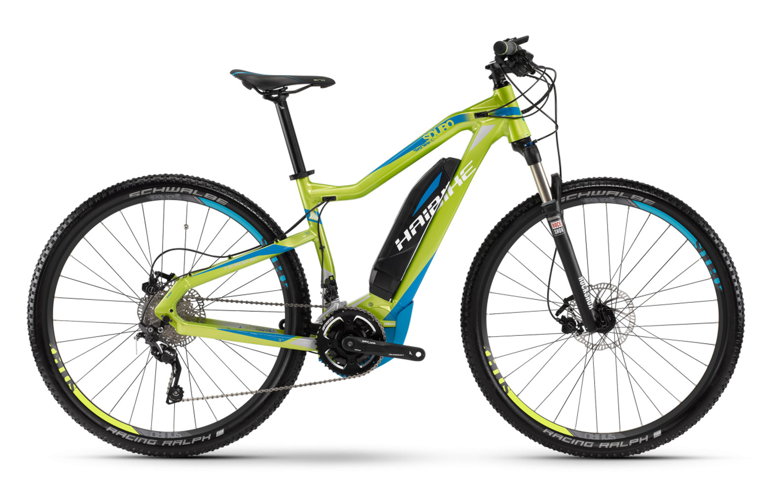 vtt lectrique haibike sduro hardnine rc 29 2016 vert cyan. Black Bedroom Furniture Sets. Home Design Ideas