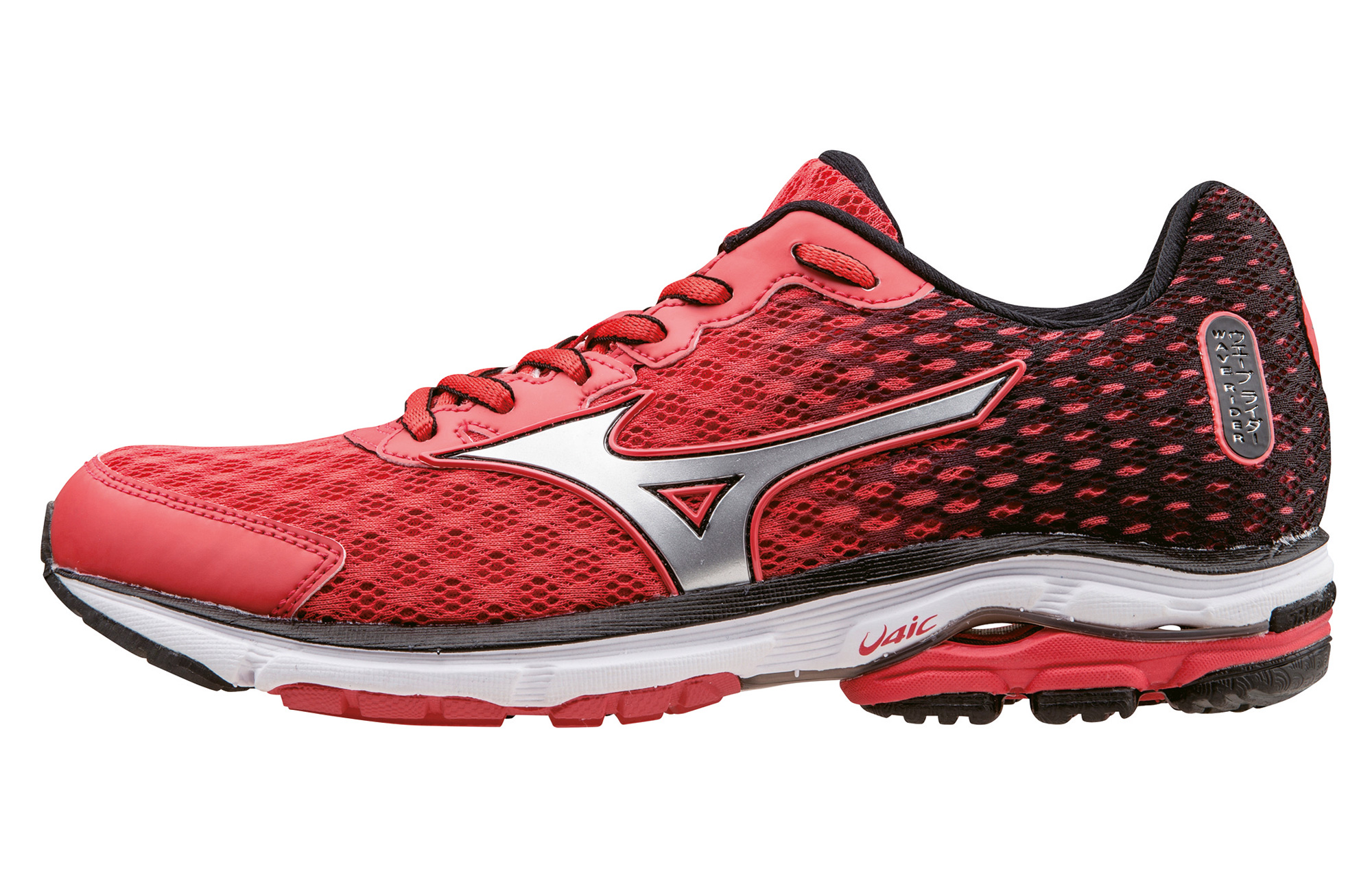 info for 01a52 bb7b9 MIZUNO Shoes WAVE RIDER 18 Red Black Women