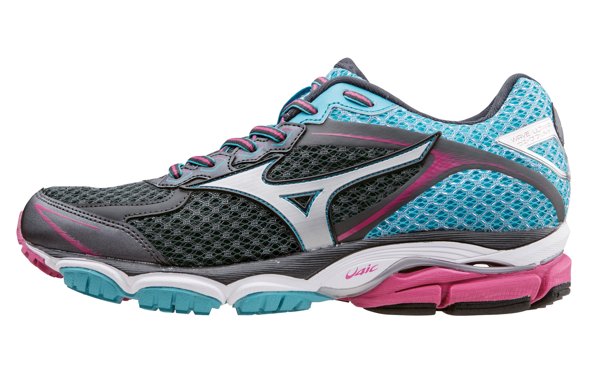 3c12eba2de76 MIZUNO Shoes WAVE ULTIMA 7 Black Blue Pink Women | Alltricks.com