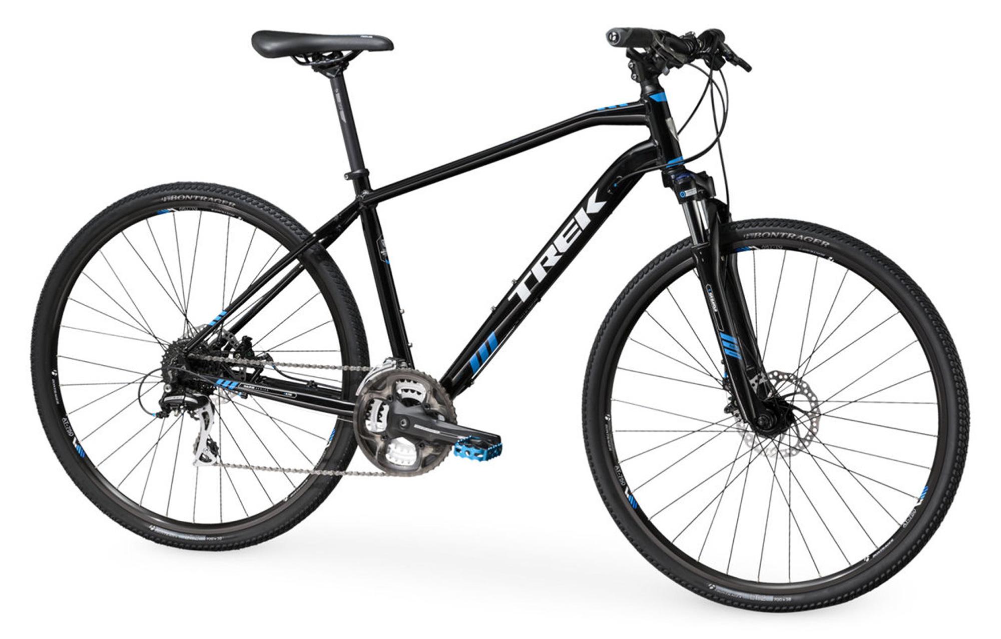 trek 8 3 ds hybrid bike black 2016. Black Bedroom Furniture Sets. Home Design Ideas