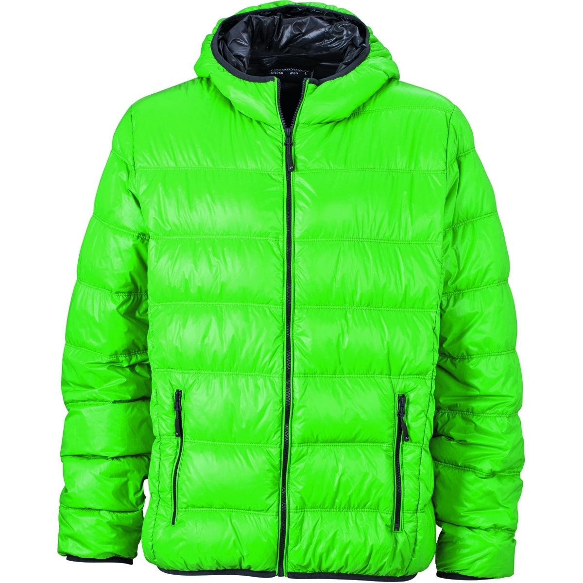 meilleur site web 4b863 8e341 James et Nicholson Veste duvet à capuche - doudoune anorak homme - JN1060 -  vert