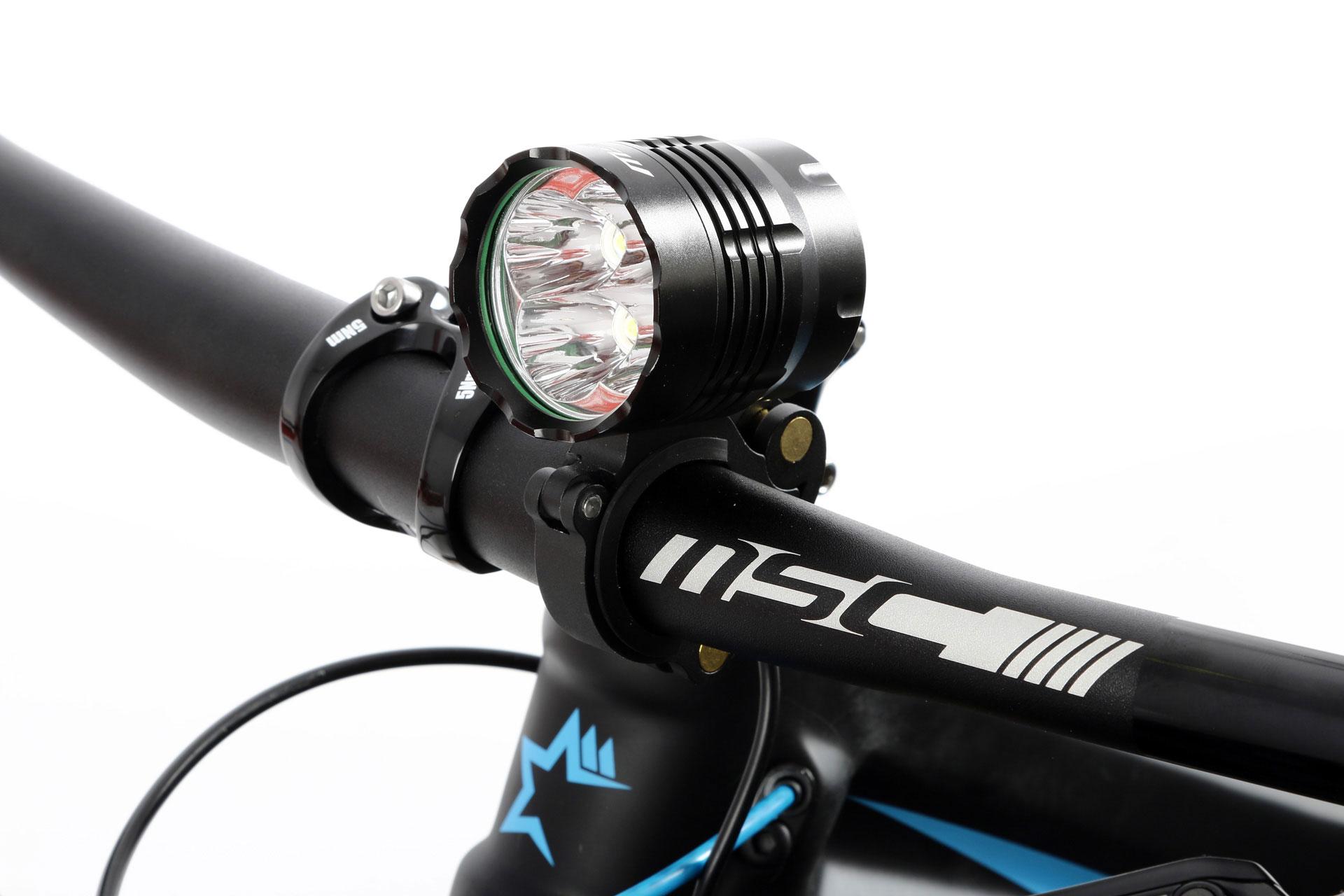 MSC Lampe avant 2000 Lumens Noir sur batterie