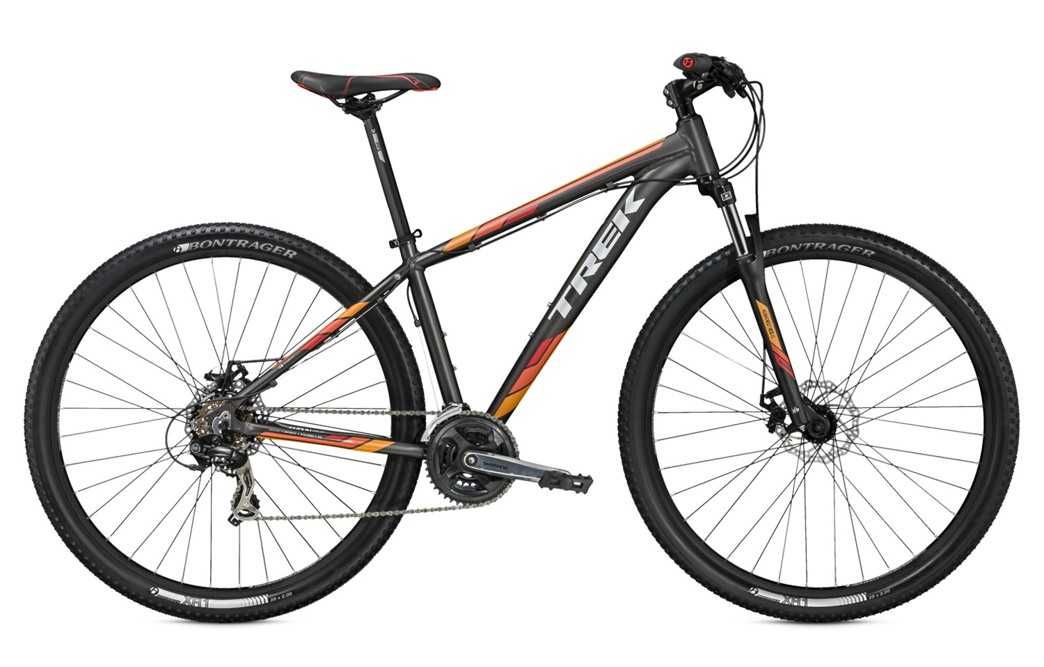 ff95bc5652c TREK 2016 Full Bike 29'' MARLIN 5 Grey Orange | Alltricks.com