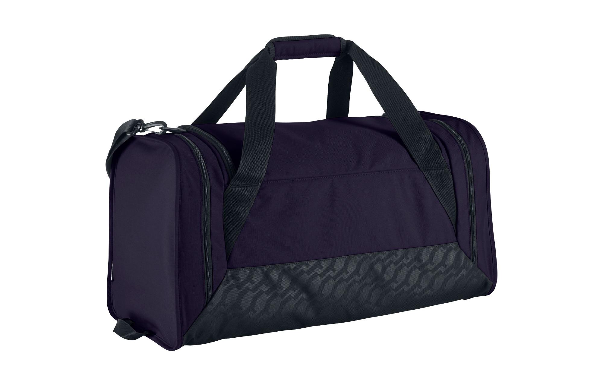 nike sac de sport brasilia 6 duffel violet 45l. Black Bedroom Furniture Sets. Home Design Ideas