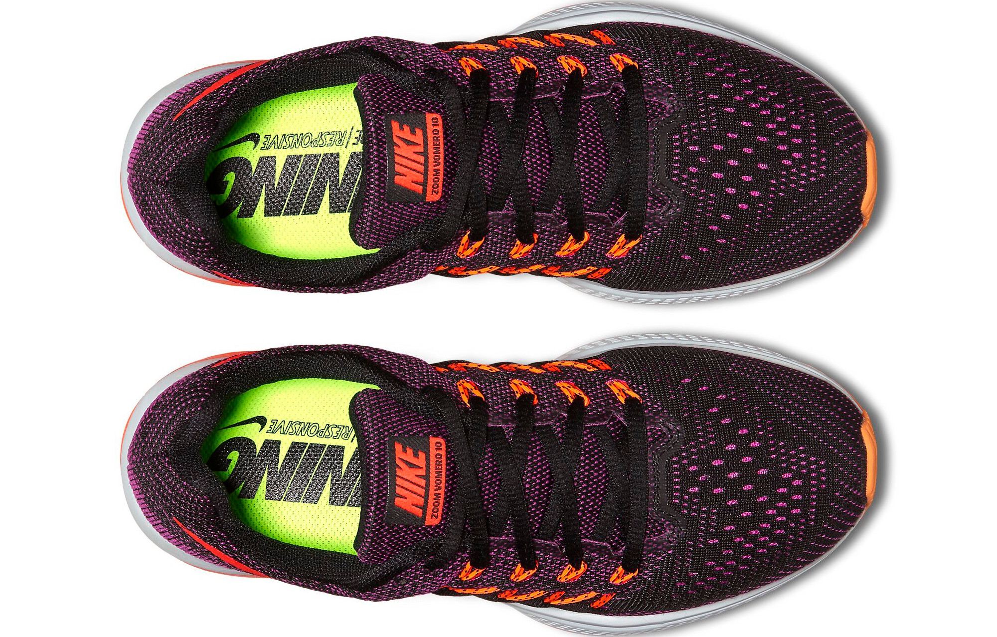new products 4bff1 90e40 Chaussures de Running Femme Nike AIR ZOOM VOMERO 10 Violet   Noir   Orange