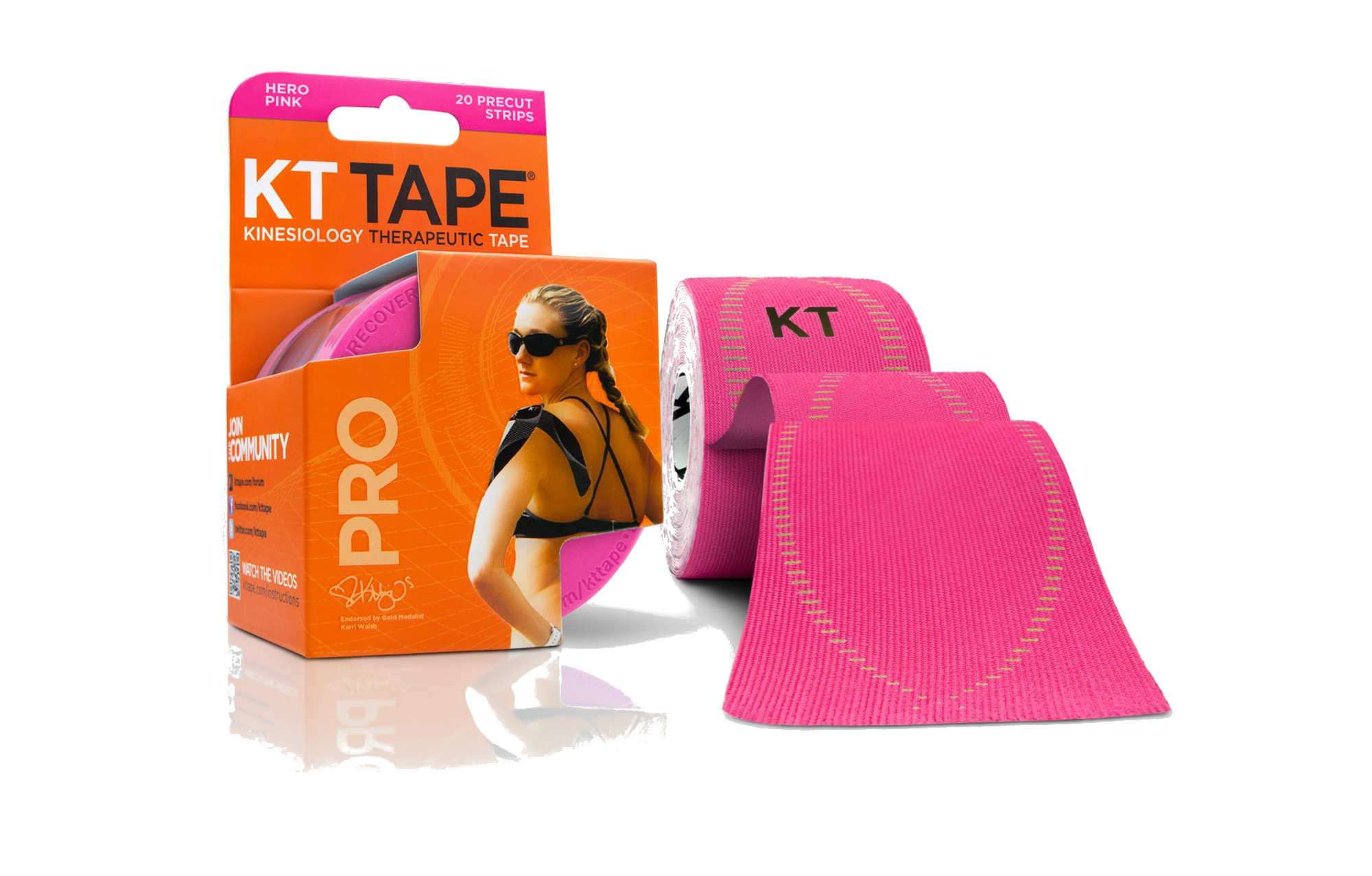 Support KT Tape Pro Kinesiology Elastic Sports Tape Solar Yellow