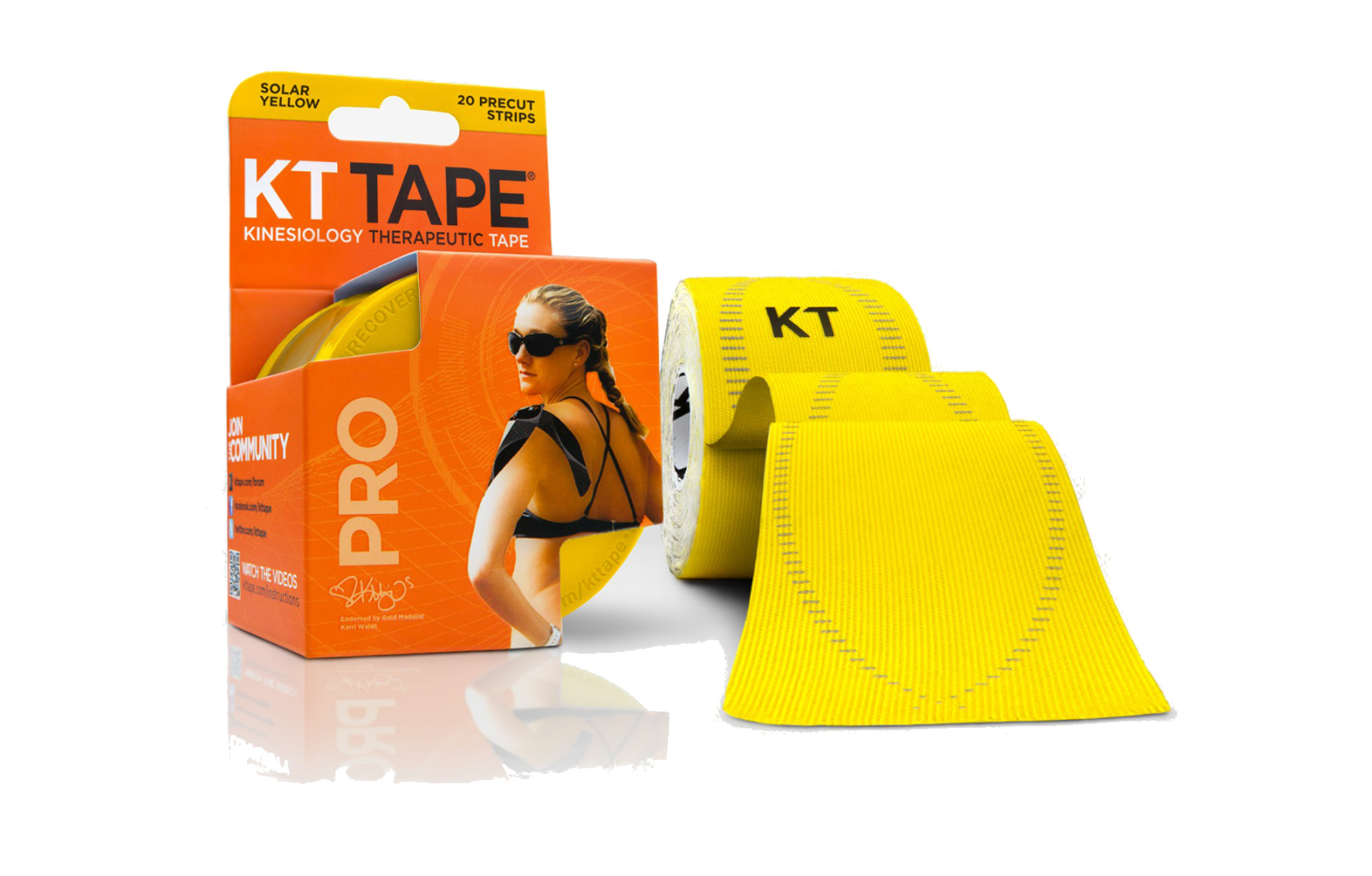 KT Tape Kinesiology Therapeutic Body Tape Roll of 20 Strips Navy Blue