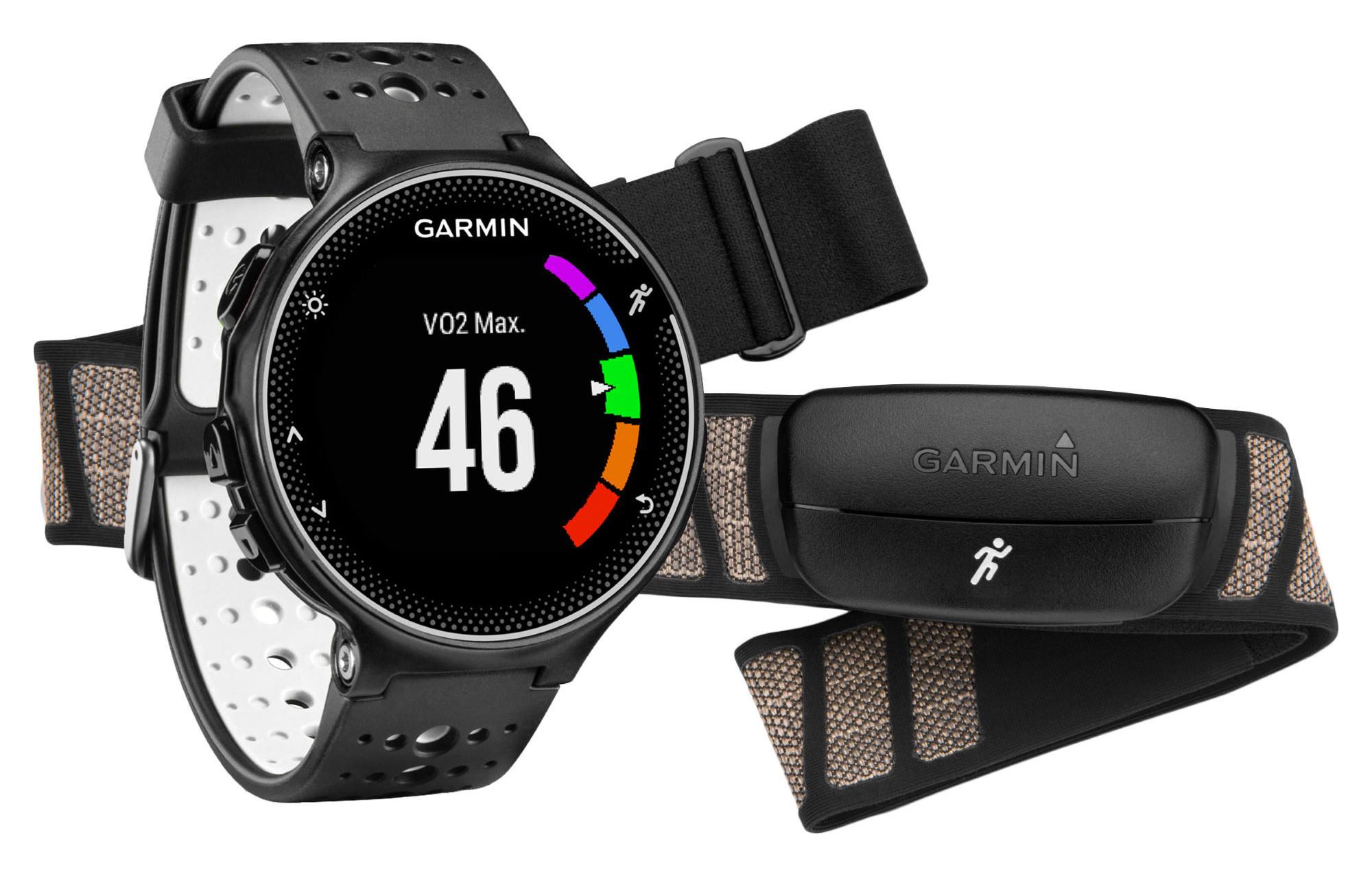 garmin montre gps forerunner 230 pack hrm noir blanc. Black Bedroom Furniture Sets. Home Design Ideas
