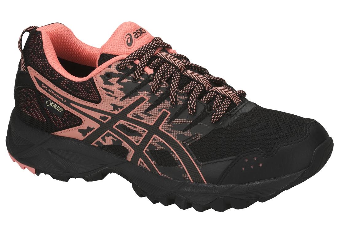 Asics Gel Sonoma 3 G TX T777N 9006 Femme Chaussures de running Noir