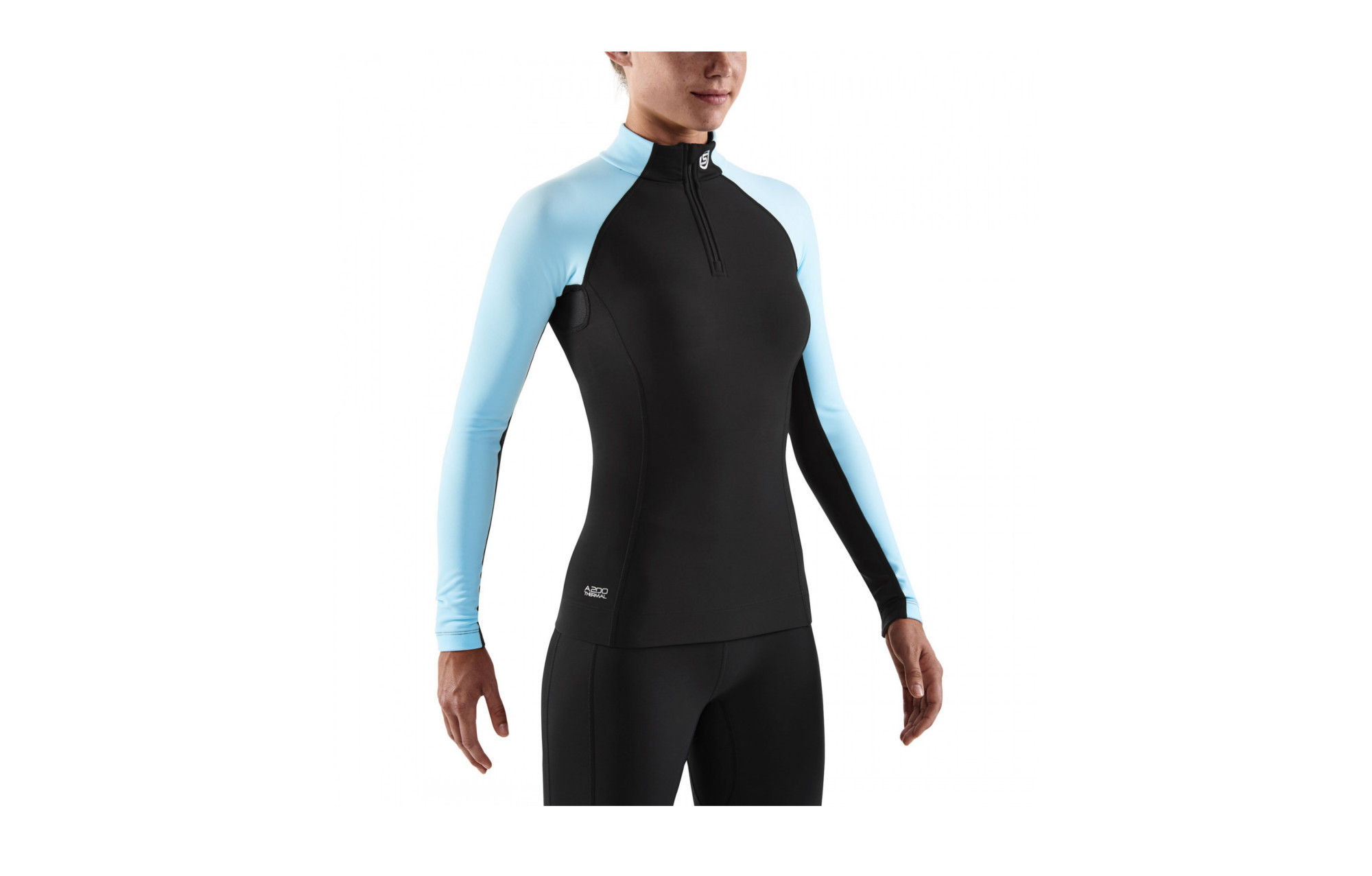 1fea8355b46ec SKINS A200 Women's Thermal Compression Long Sleeve Top with Zip Mock Neck