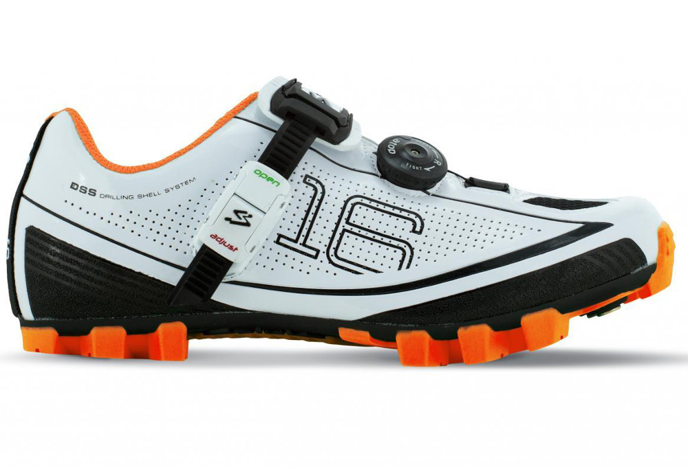 Spiuk 16M MTB Shoes Blanc / Orange 2016