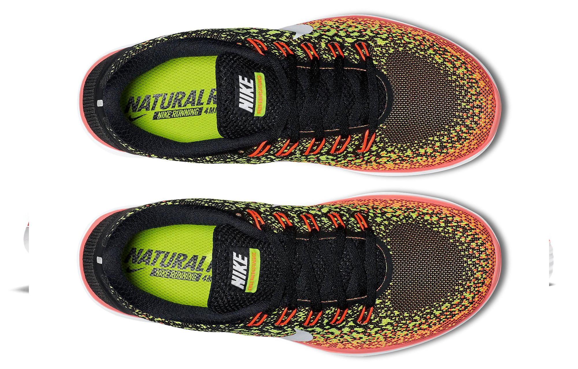 purchase cheap 671bc ba241 Chaussures de Running Femme Nike FREE RUN DISTANCE Noir   Jaune   Orange
