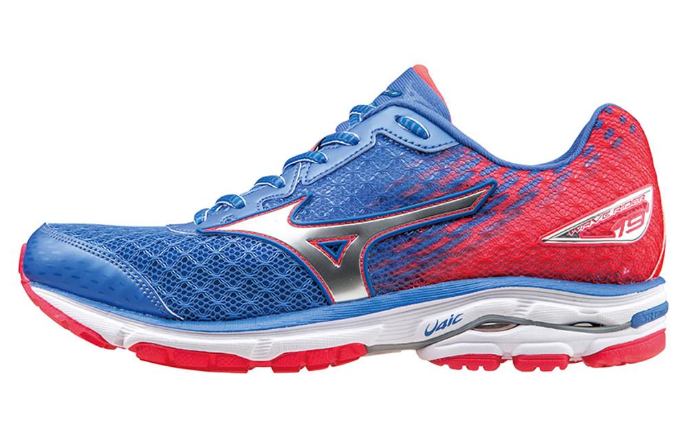 quality design 6b77a 9607d MIZUNO Shoes WAVE RIDER 19 Blue Pink Women