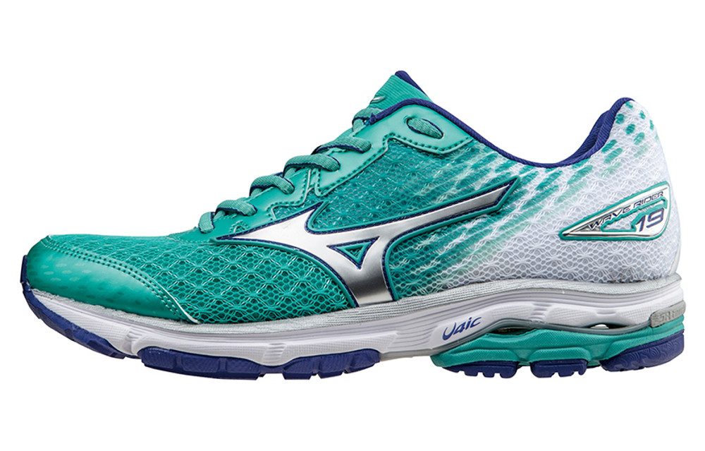 MIZUNO Shoes WAVE RIDER 19 Blue Women  54c2ce493e35c