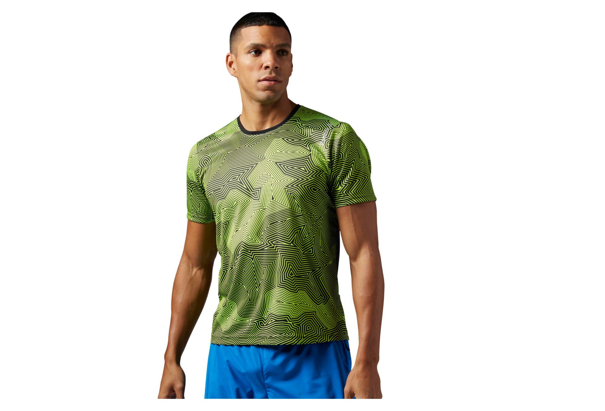00e29cbca043 REEBOK 2016 Running T-Shirt Short Sleeve ESSENTIALS Green Grey ...