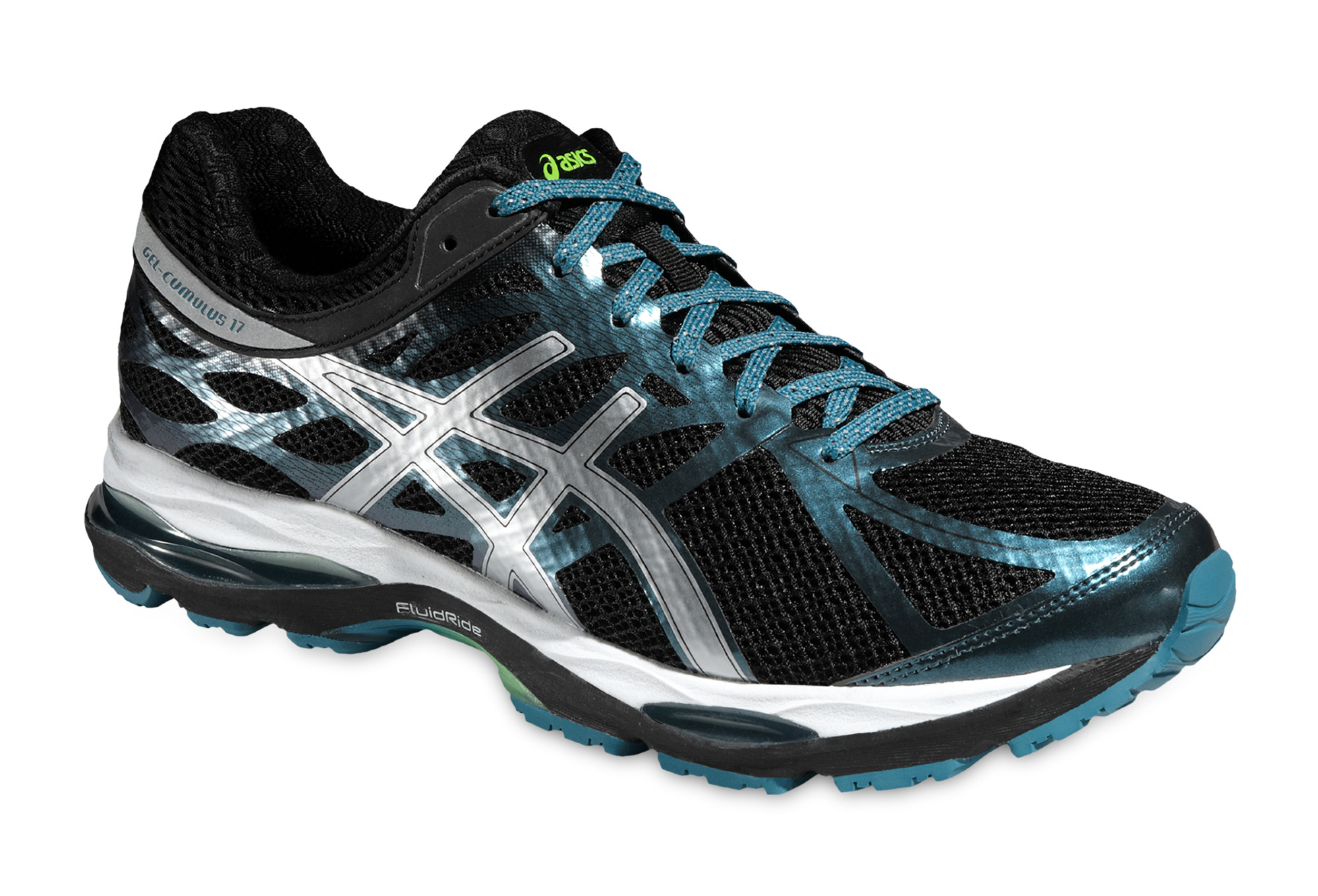 bas prix 64d3e 584cb ASICS Running Shoes Gel CUMULUS 17 Lite-Show Black Blue White