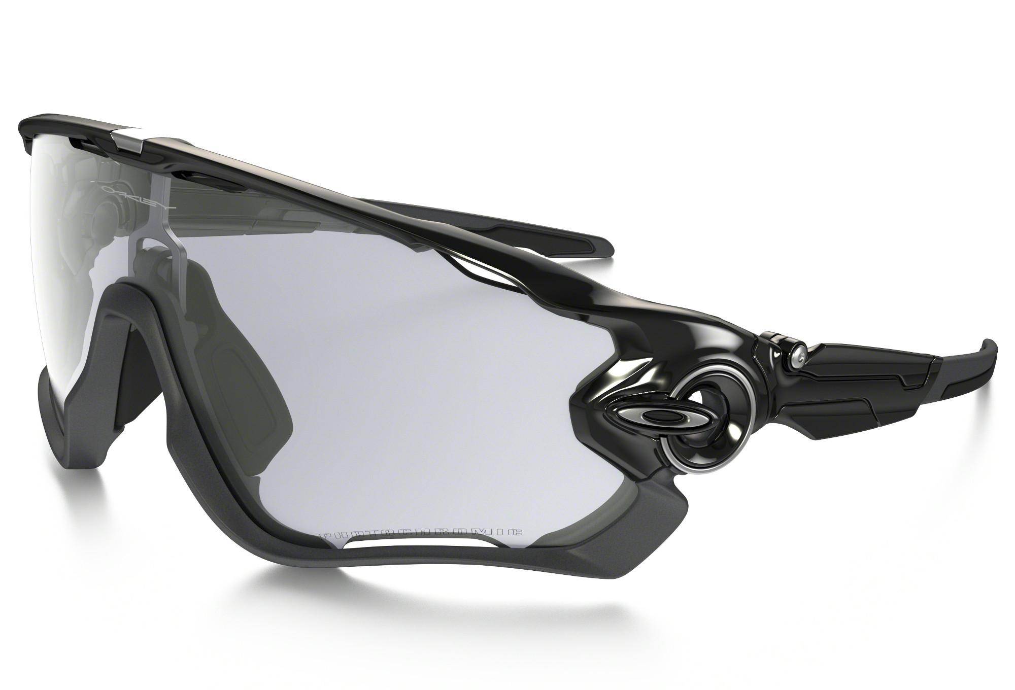 Oakley Jawbreaker Clear Iridium Photochromic Lunettes de soleil Noir ejxOR