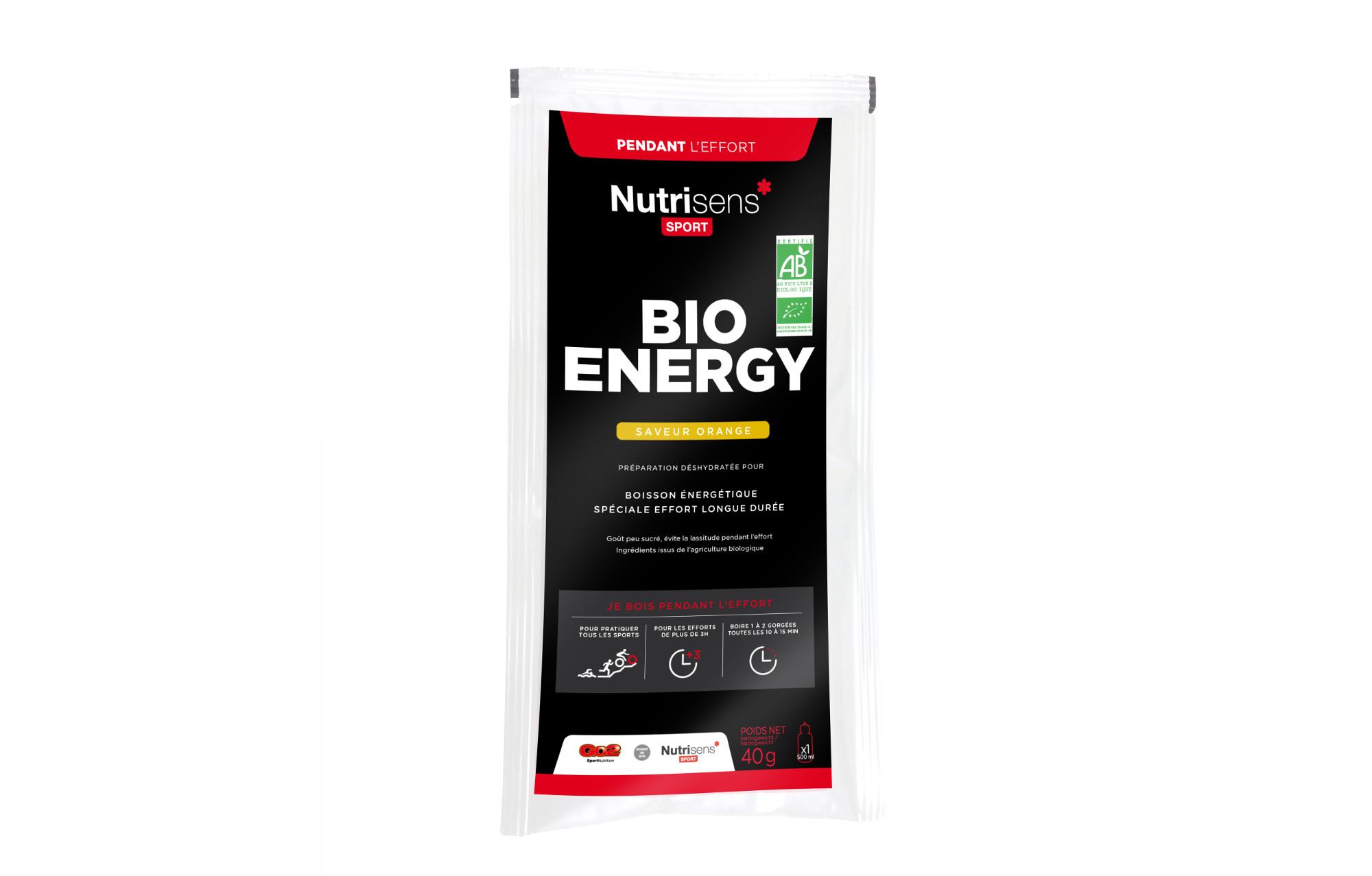 nutrisens boisson nerg tique bio energy sachet de 40g orange. Black Bedroom Furniture Sets. Home Design Ideas