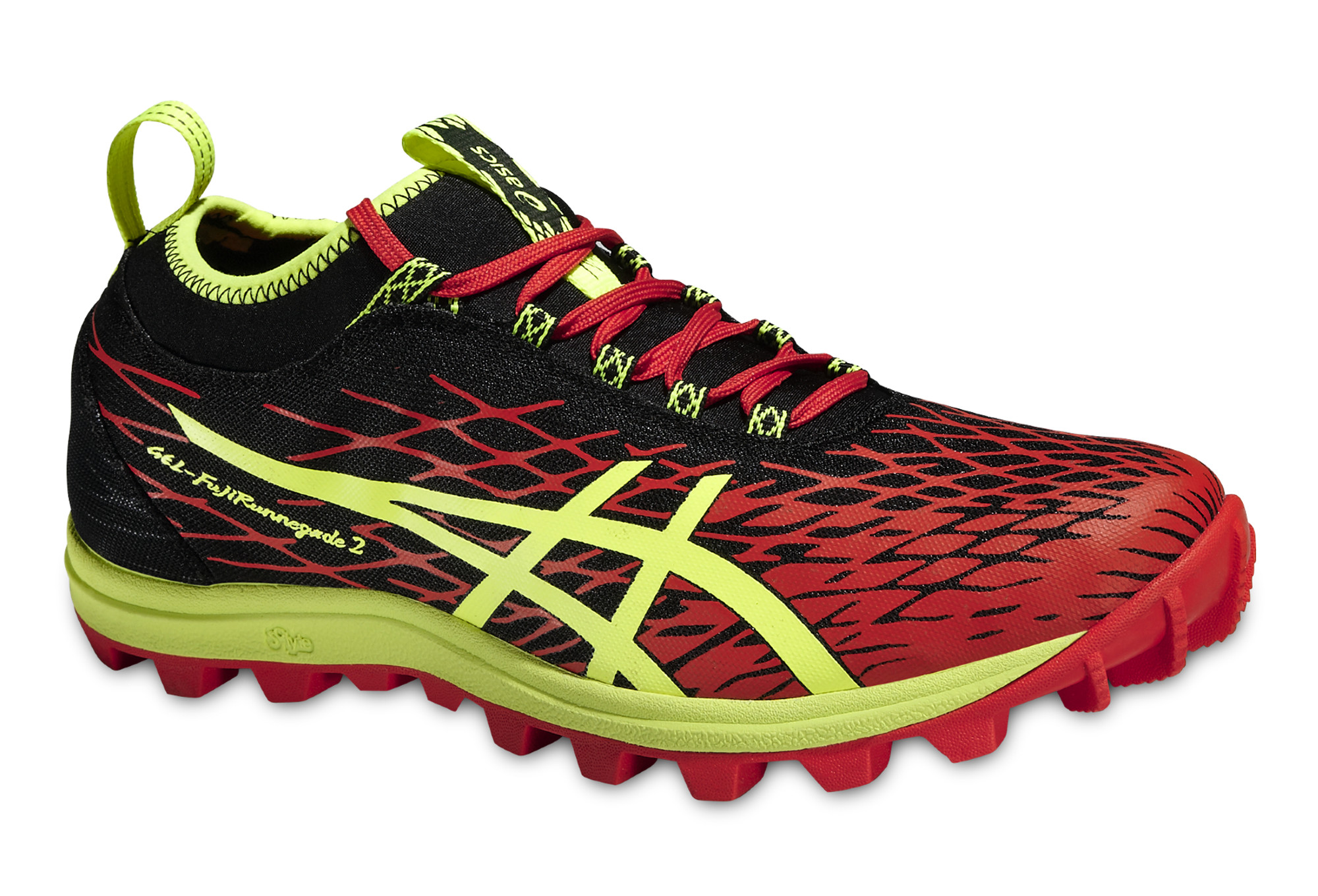 chaussures de trail asics gel fujirunnegade 2 jaune orange. Black Bedroom Furniture Sets. Home Design Ideas